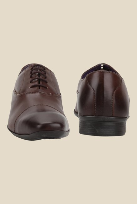 Knotty Derby Arthur Toe Cap Brown Oxford Shoes