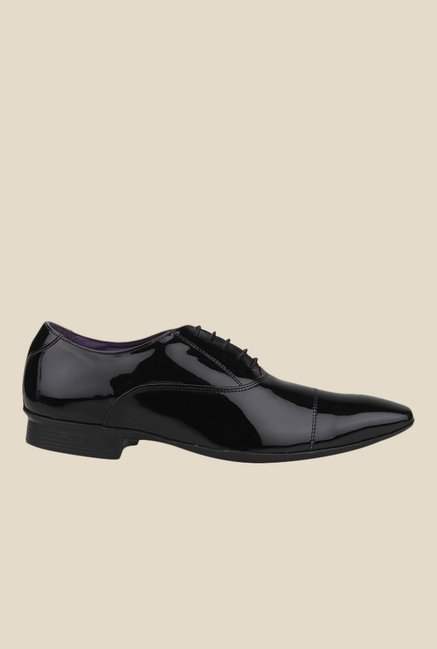 Knotty Derby Arthur Toe Cap Black Oxford Shoes