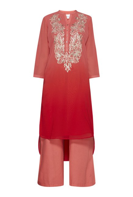Vark by Westside Coral Floral Print Suit Set