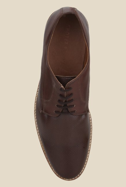 Knotty Derby Ollivander Classic Brown Derby Shoes
