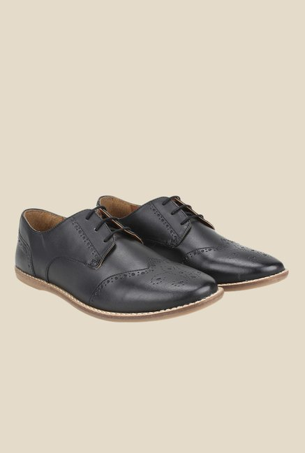 Knotty Derby Thomas Black Brogue Shoes