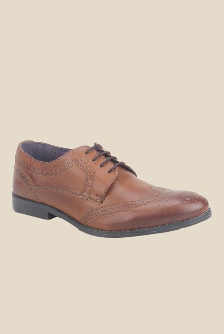 Knotty Derby Oliver Wing Cap Tan Brogue Shoes