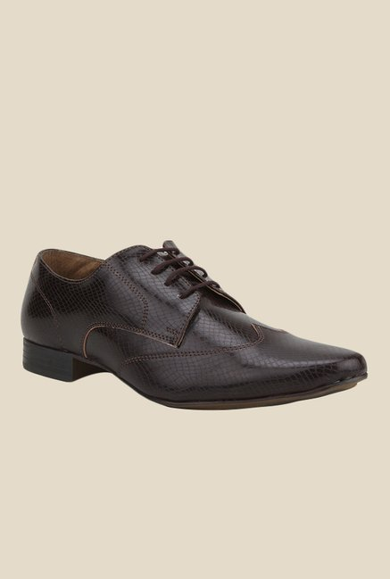 Knotty Derby Elphias Wing Cap Brown Derby Shoes