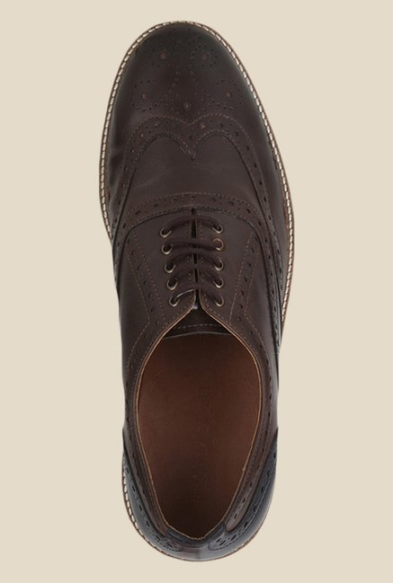 Knotty Derby Burbage Brown Brogue Shoes