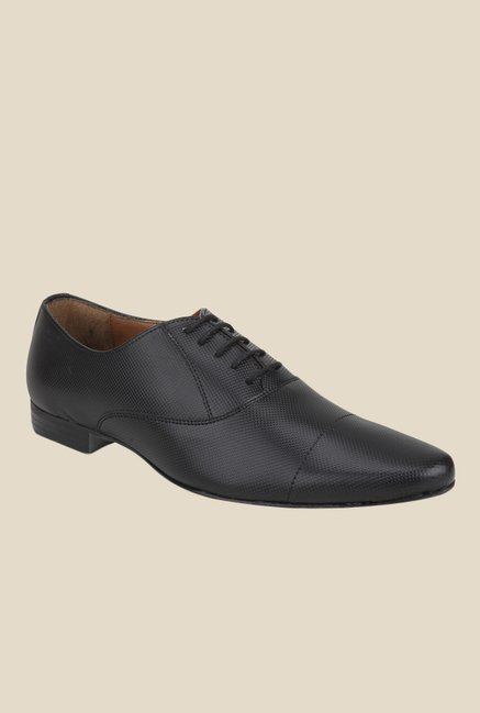 Knotty Derby Elphias Toe Cap Black Oxford Shoes