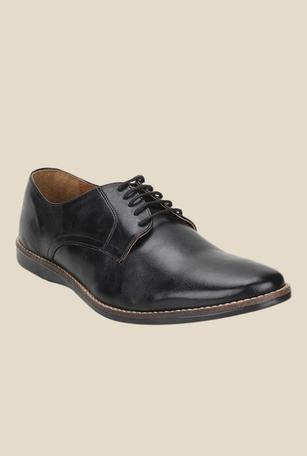 Knotty Derby Ollivander Classic Black Derby Shoes