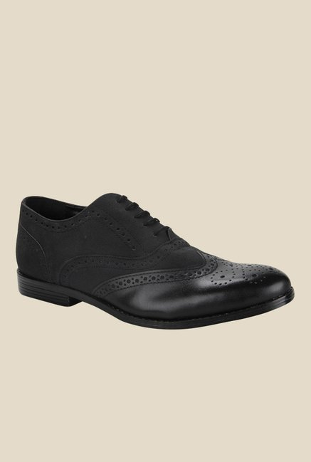Knotty Derby Oliver Black Brogue Shoes