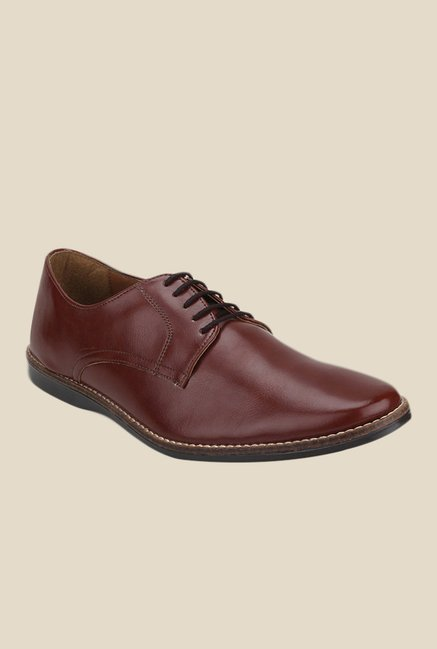 Knotty Derby Ollivander Classic Maroon Derby Shoes