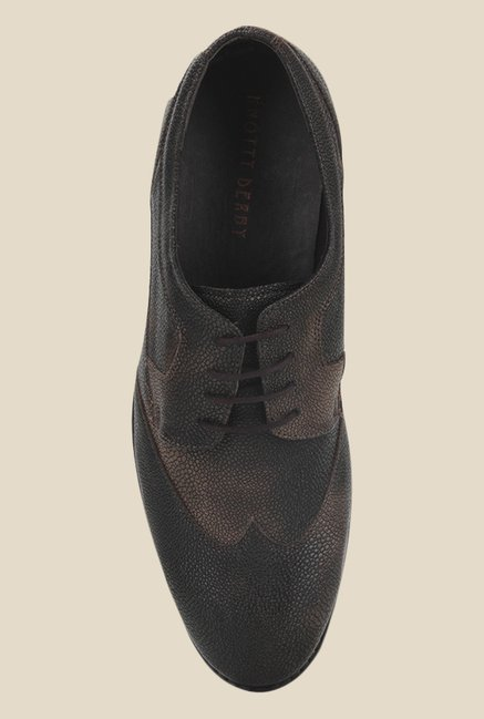 Knotty Derby Oliver Side Panel Brown Derby Shoes