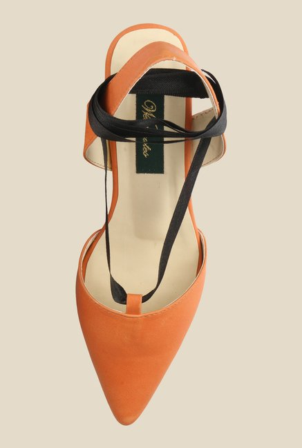 Wearmates Orange Sling Back Wedges