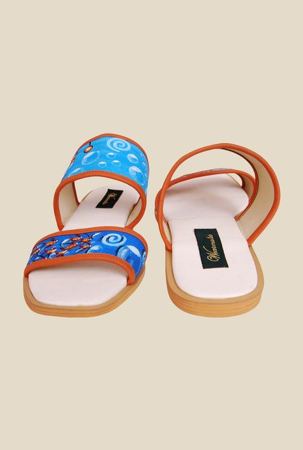 Wearmates Blue & Orange Flat Sandals
