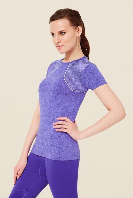 Amante Purple Sports Slim Fit T Shirt