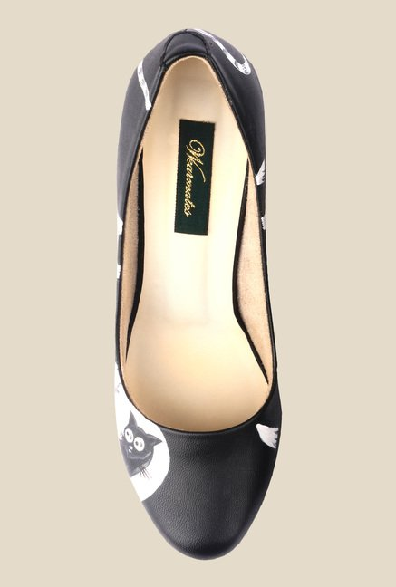 Wearmates Black & White Cone Heeled Pumps