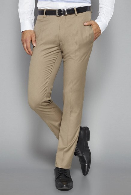 Weststreet by Westside Beige Solid Trouser