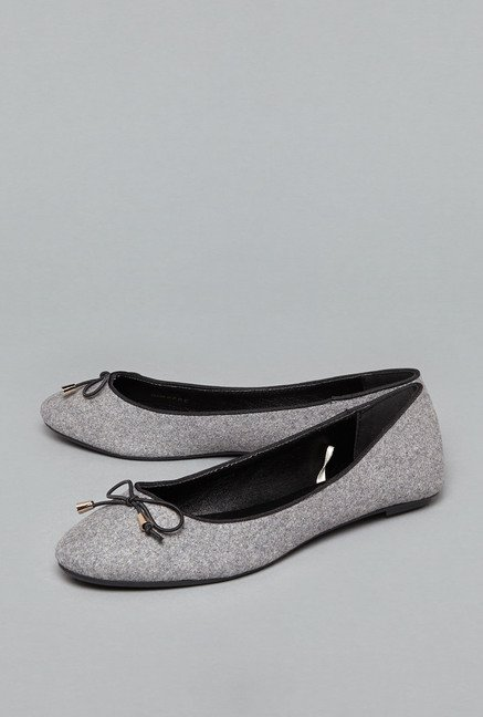 Head Over Heels by Westside Grey Ballerina Shoes
