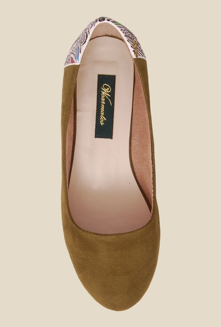 Wearmates Olive Green Flat Ballets