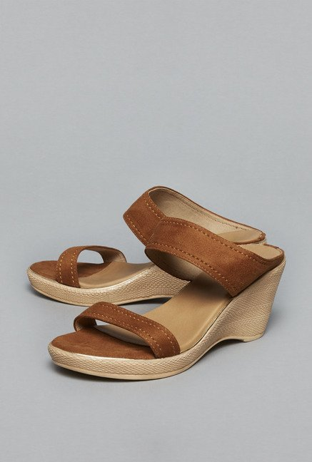 Head Over Heels by Westside Tan Wedge Sandals