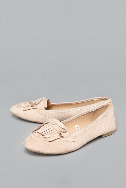 Head Over Heels by Westside Beige Loafer Shoes