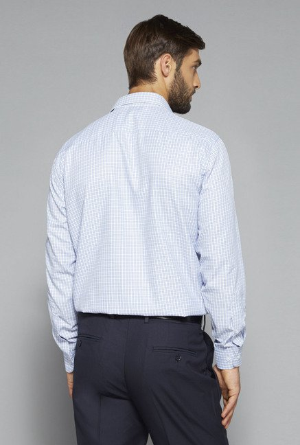 Weststreet by Westside Light Blue Checks Shirt