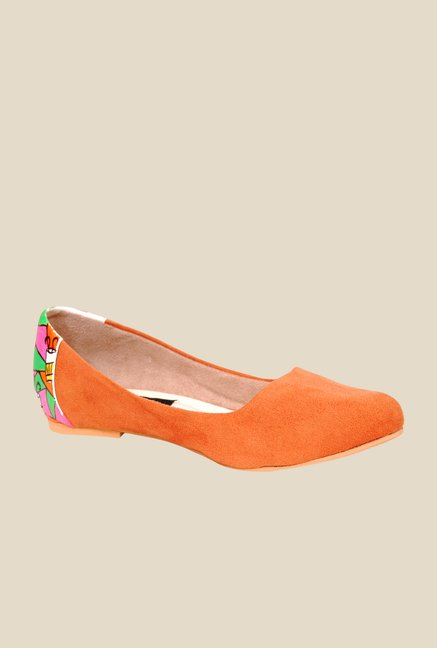 Wearmates Orange Flat Ballets