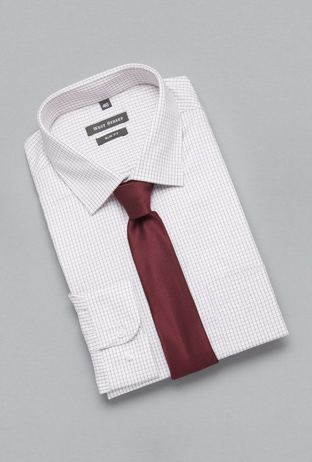 Weststreet by Westside White Checks Shirt