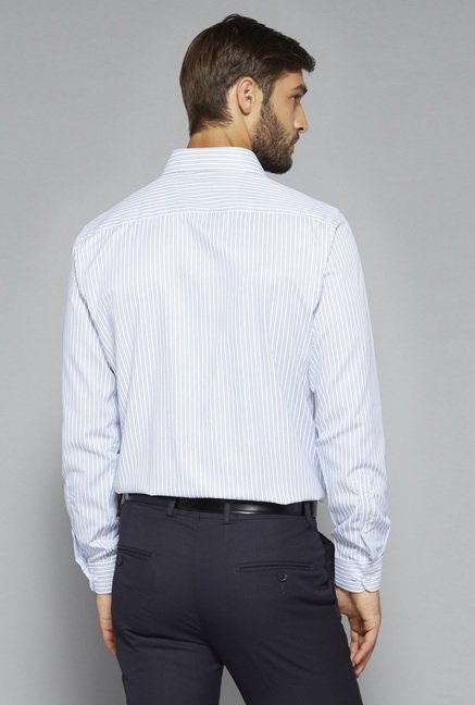 Weststreet by Westside Light Blue Striped Shirt