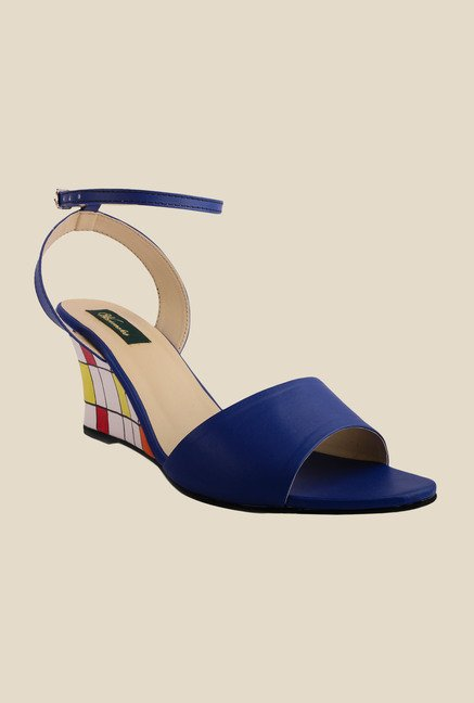 Wearmates Blue Ankle Strap Wedges