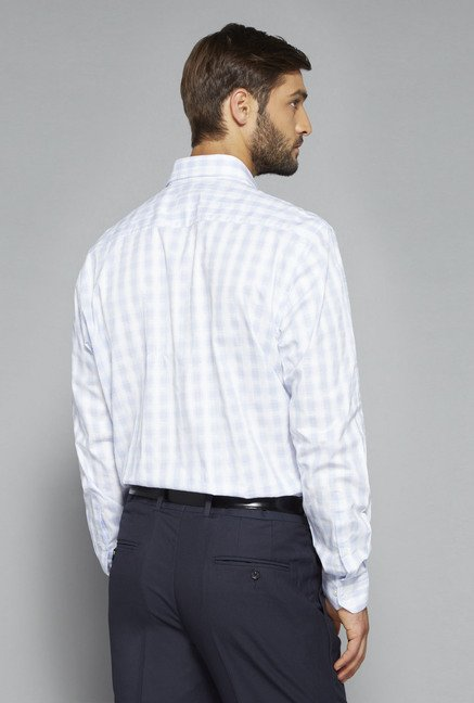 Weststreet by Westside Blue & White Checks Shirt
