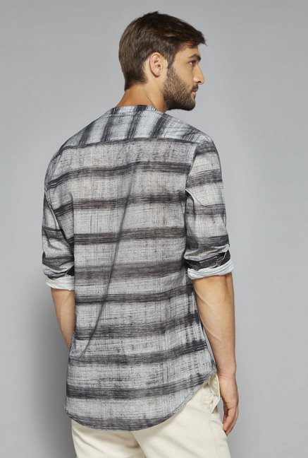ETA by Westside Grey Striped Shirt