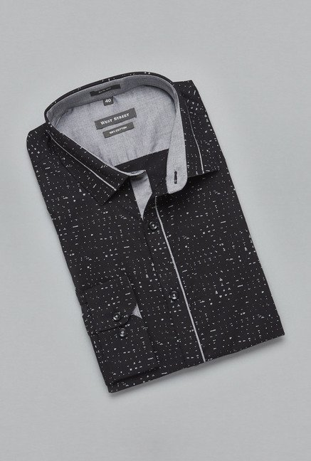 Weststreet by Westside Black Printed Shirt
