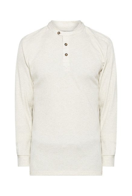 Ascot by Westside Beige Textured T Shirt