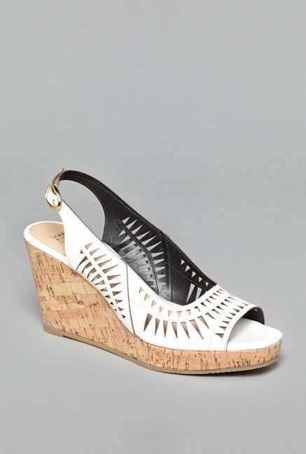 Head Over Heels by Westside White Wedge Sandals