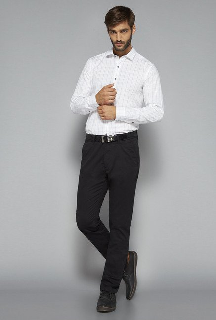 Ascot by Westside Black Solid Chinos