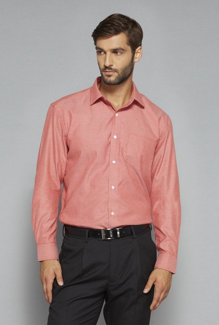 Weststreet by Westside Coral Solid Shirt