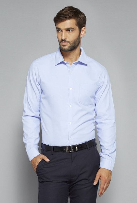 Weststreet by Westside Light Blue Solid Shirt