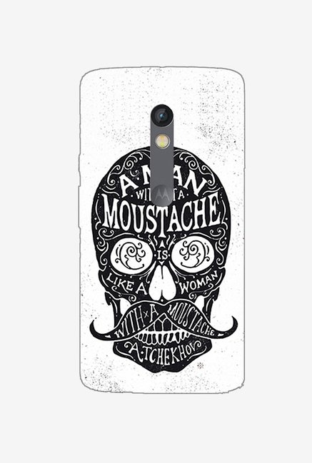 Ziddi MOUSTHSKUL Hard Back Cover for Moto X Play (Multi)