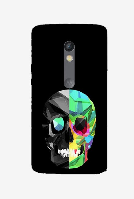 Ziddi SKUL Hard Back Cover for Moto X Play (Multi)