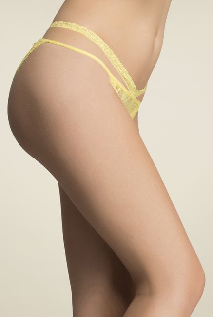 Clovia Yellow Lacy Panty