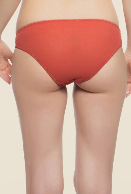 Clovia Red Sheer Lacy Panty
