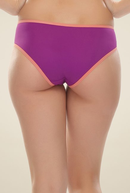 Clovia Purple & Peach Strappy Bikini Panty