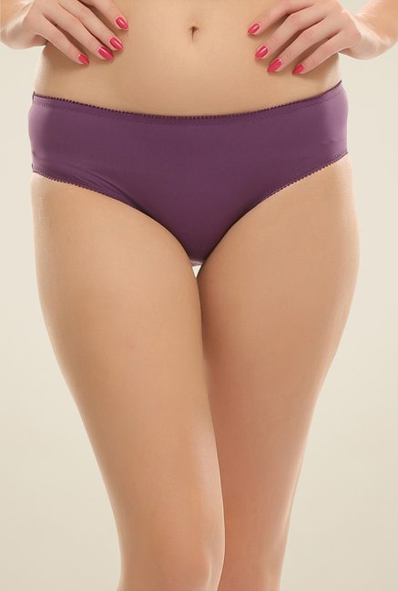 Clovia Purple Floral Lace Brief
