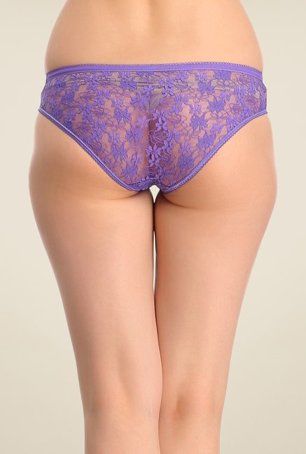 Clovia Purple Lace Panty