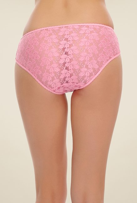 Clovia Light Pink Lace Brief