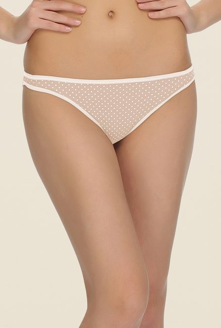 Clovia Beige Polka Dot Cotton Panty