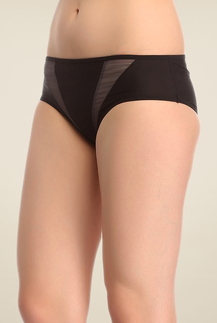 Clovia Black Solid Hipster Panty