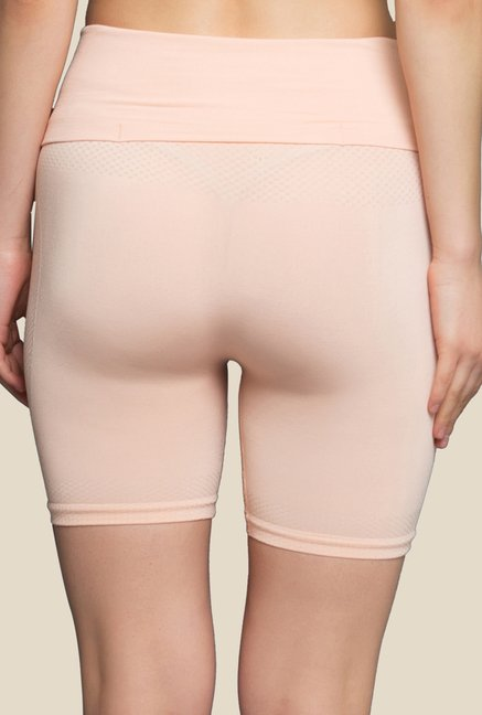 Clovia Peach Solid Shapewear