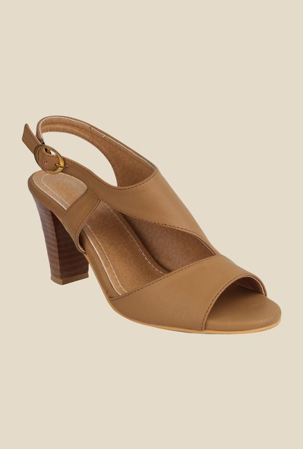 Cobbler's Thread Beige Back Strap Sandals
