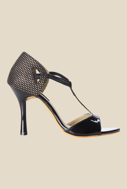 Cobbler's Thread Black Stiletto Heeled Sandals