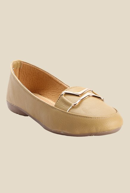 Cobbler's Thread Beige Flat Ballets