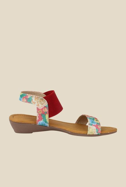 Cobbler's Thread Pink & Red Sling Back Wedges